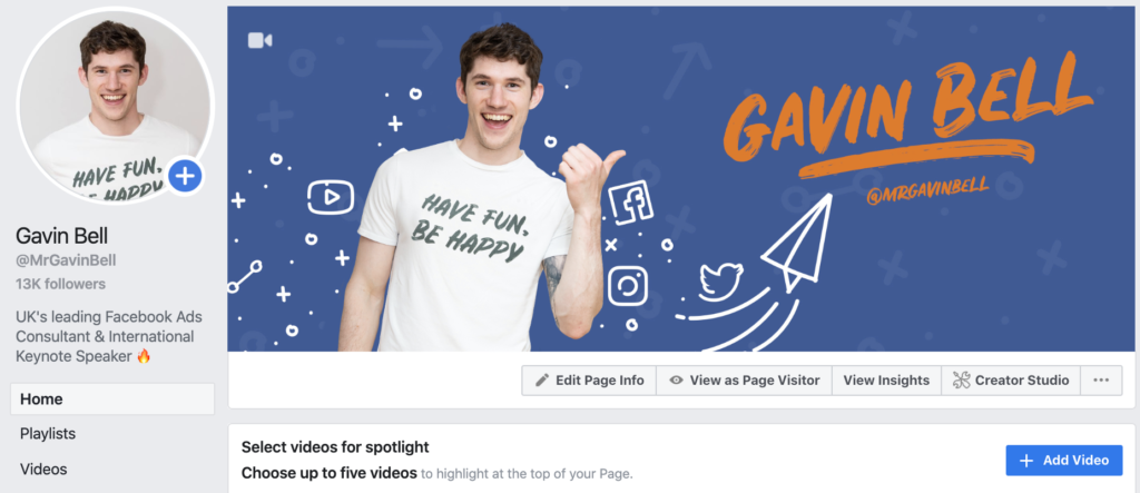 Gavin Bell Facebook page