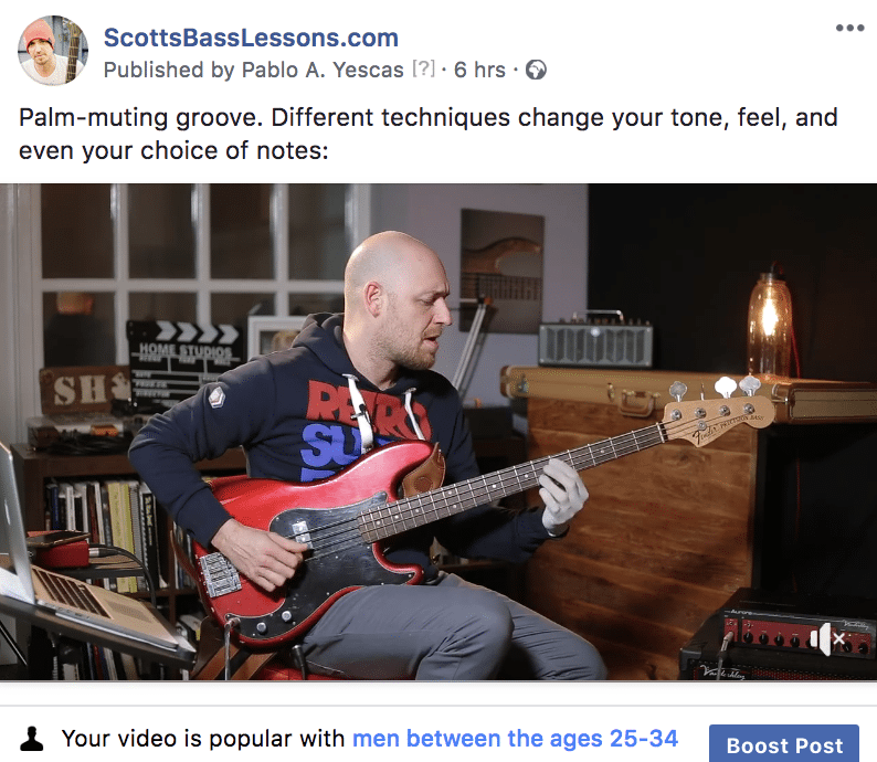 ScottsBassLessons Facebook Video
