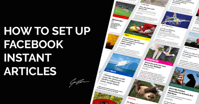 Setting Up Facebook Instant Articles