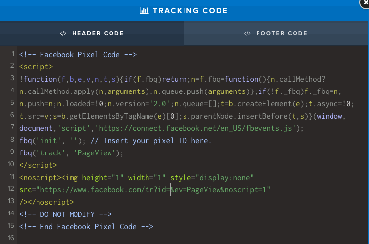 Clickfunnels tracking code