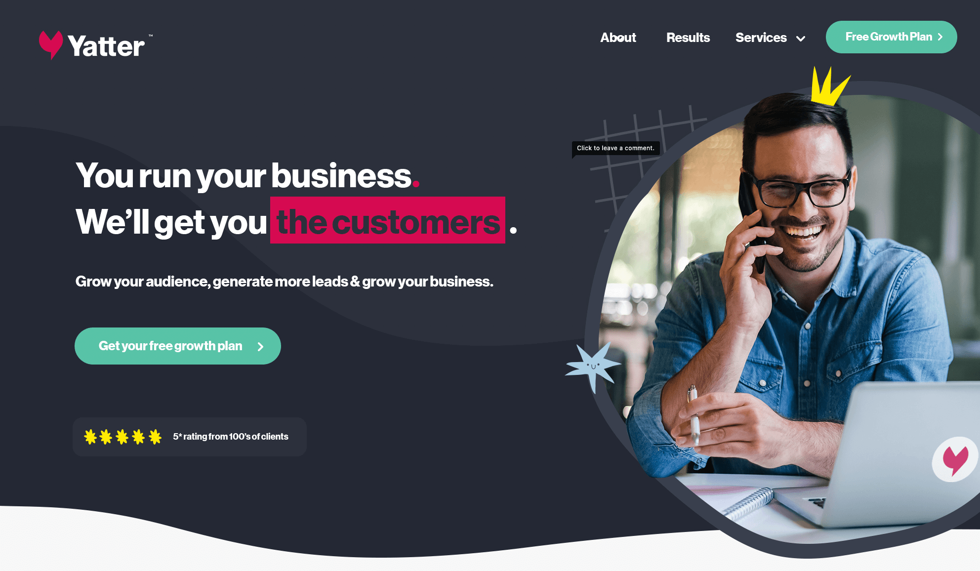 Yatter homepage concept